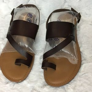 Crown Vintage Dottie Brown Sandals Flat